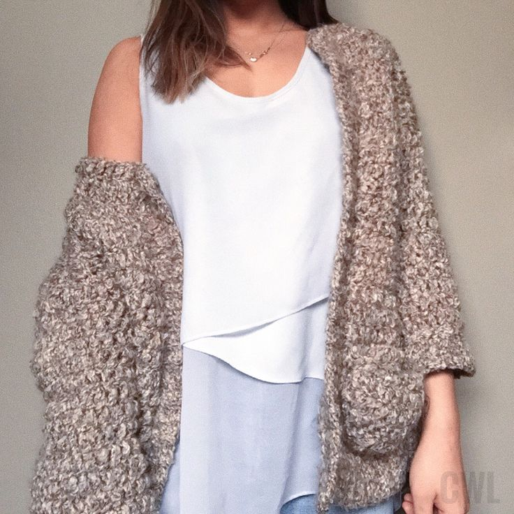 Crochet oversized boxy cardigan by Crochitted with Love