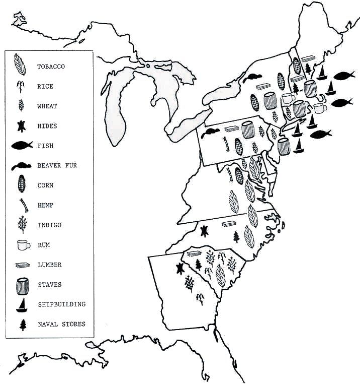 Blank 13 colony map sketch coloring page for 13 colonies map coloring page