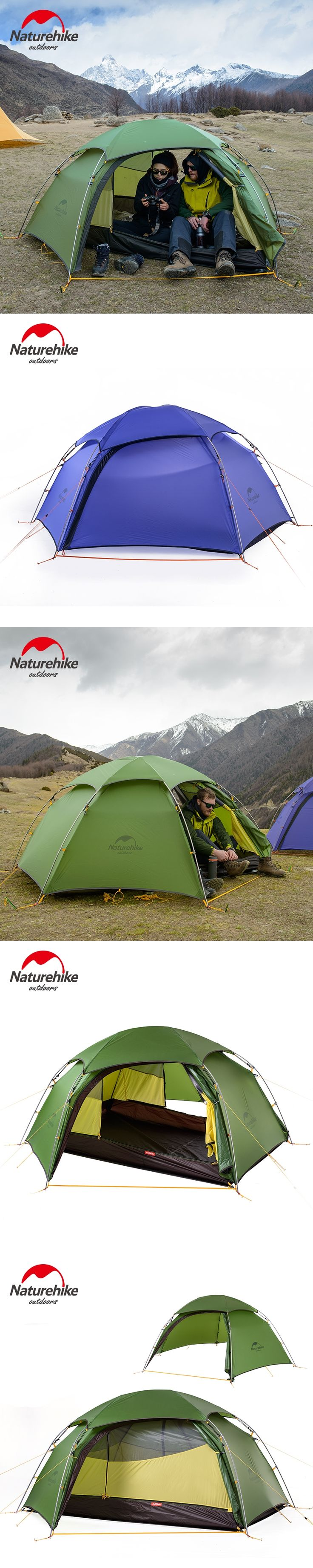 Naturehike c&ing tent Outdoor Silicone Ultralight Tents Double Layer hiking travel NH C&ing Aluminum Pole Tents & Best 25+ Aluminum pole ideas on Pinterest | One man tent 1 man ...