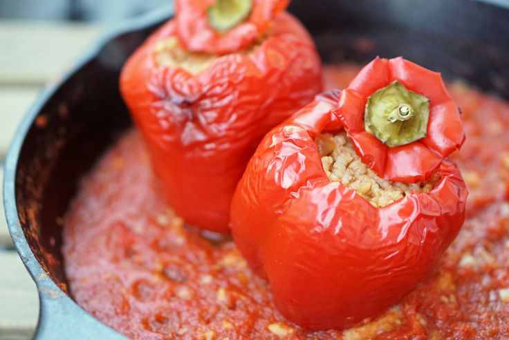 Searching for a simple stuffed peppers recipe? Try my vegetarian Spanish stuffed peppers with rice for a healthy and delicious meal!