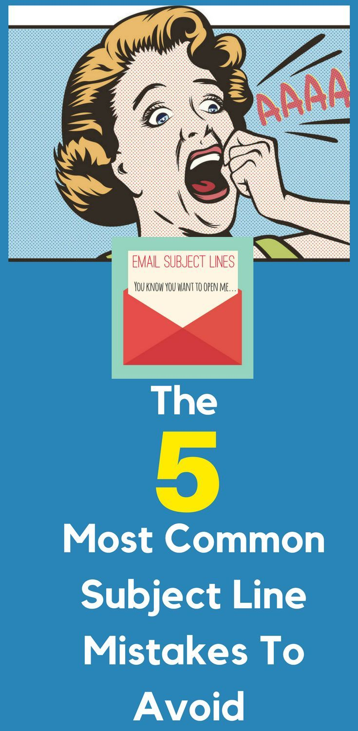 5 Most Common #Email #Subject #Line Mistakes to Avoid.  So you've just put your finishing touches on that #latest #blog #post, new #YouTube #video that you know is going to really help all those your #audience, though after checking your open rates, you're quietly devastated. Here's what to do about it!