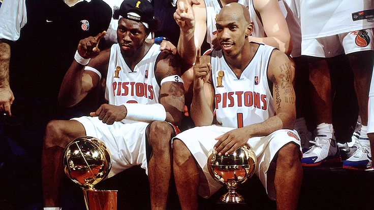 The Detroit Pistons will honor and retire jerseys for Ben Wallace and Chauncey Billups