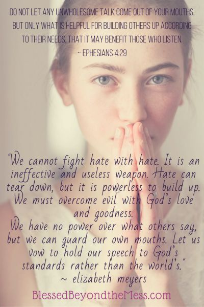 """""""We cannot fight hate with hate. It is an ineffective and useless weapon. Hate can tear down, but it is powerless to build up. We must overcome evil with God's love and goodness."""