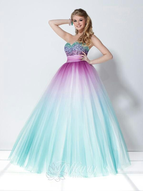 Love the colors in this prom dress  Fashion  Pinterest ...