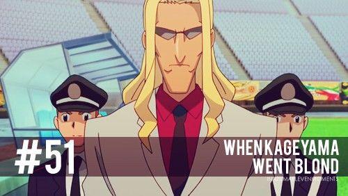 #51 Inazuma Eleven Moments: When Kageyama went blond.