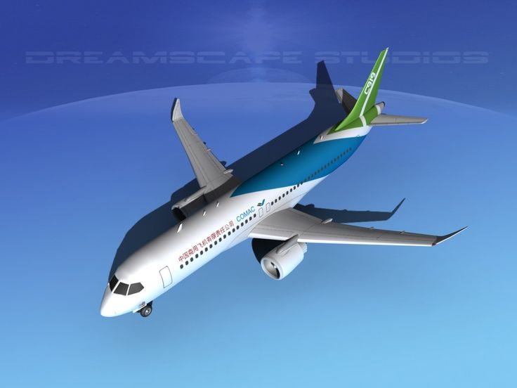 3D Comac C919 Airliners Model - 3D Model