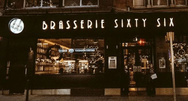 Brasserie Sixty6 – Enjoy a 3 Course meal for 2 people with a bottle of wine for €50