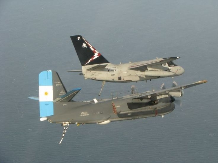Argentine Navy S-2 Tracker and US Navy S-3 Viking