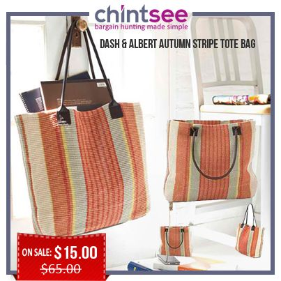 Dash Albert Autumn Stripe Tote Bag Bags Wallets Under 20 Pinterest Striped