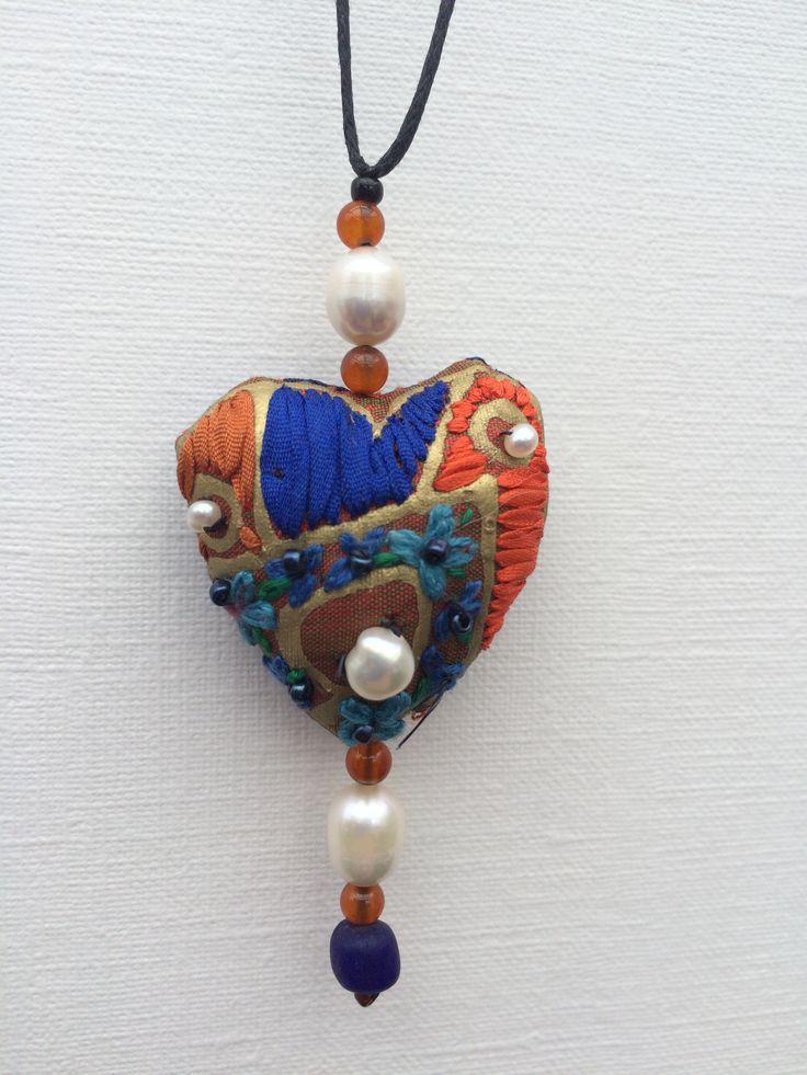Silk heart made by Klektik