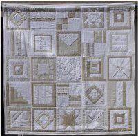 Weißer Quilt – Kissen und Decken