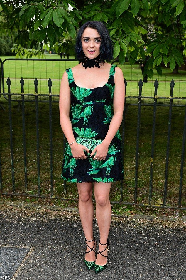Gothic glam: It seems Maisie Williams is keen to forget about Aria Stark for a while, as t...