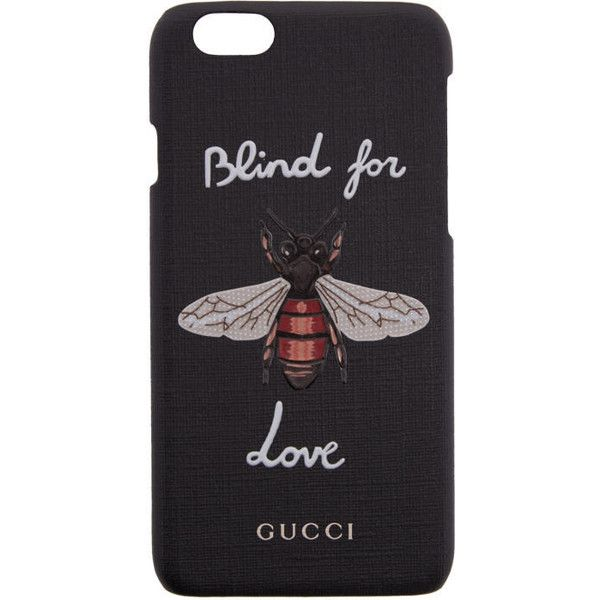 Gucci Black Bee iPhone 6 Case ($245) ❤ liked on Polyvore featuring accessories, tech accessories, black and gucci