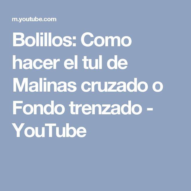 Bolillos: Como hacer el tul de Malinas cruzado o Fondo trenzado - YouTube