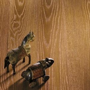 Copper Leaf - Oak - brushed. Pavimento in Rovere, spazzolato, Foglia Rame.