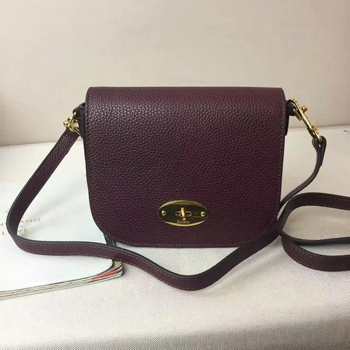 2017 Spring Mulberry Small Darley Satchel in Oxblood Small Classic Grain Leather