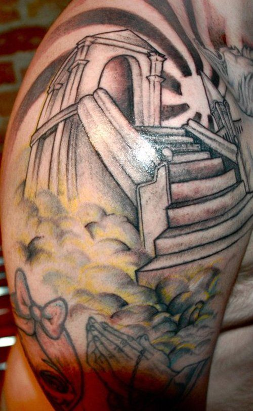 17 best ideas about heaven tattoos on pinterest stairway for Stairway to heaven tattoo chest