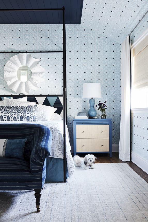 blue bedroom, by John DeBastiani