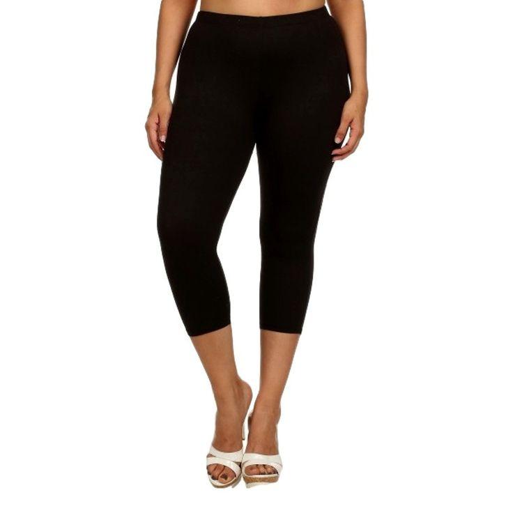 Curvy Capri Leggings, Black