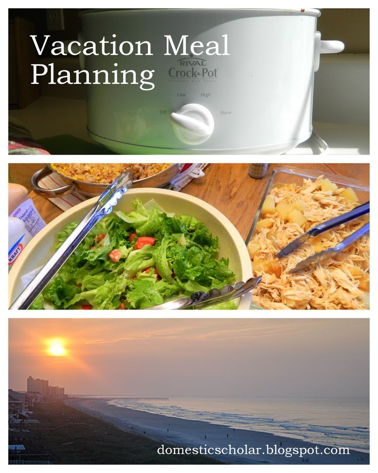 Vacation Meal Planning domesticscholar.blogspot.com
