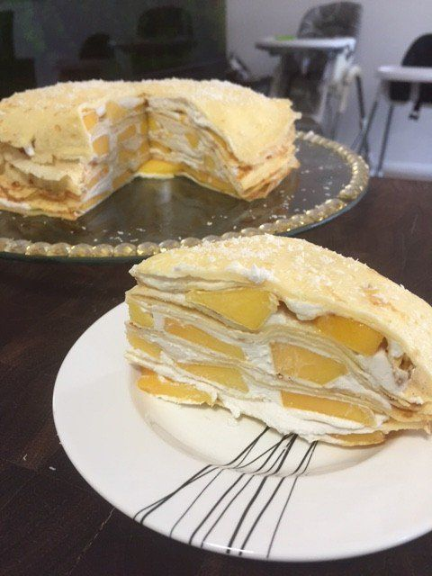 ... coconut cream mango baby forward whipped coconut cream and mango crepe