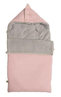 Voetenzak voor autostoel groep 0+ Kleur: baby pink/silver grey - KOEKA | ref. G-200065 | Paradisio