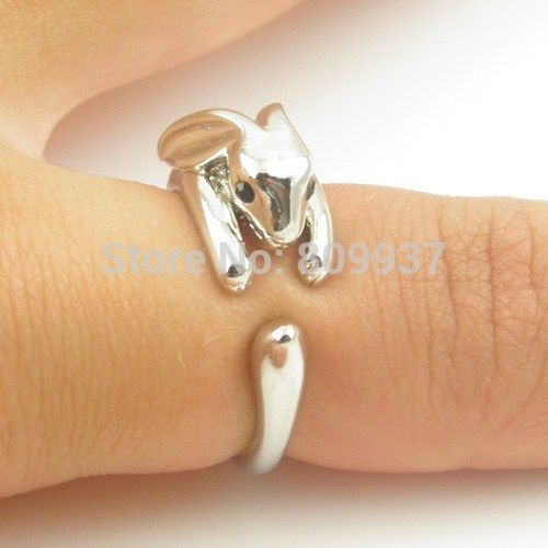 1pcs Adjustable Vintage Brass Dainty Tiny Bunny Animal  Knuckle Ring Shiny Rabbit for Women and Girls Fashion Jewelry