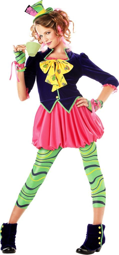 Girls Sweet Mad Hatter Costume - Party City