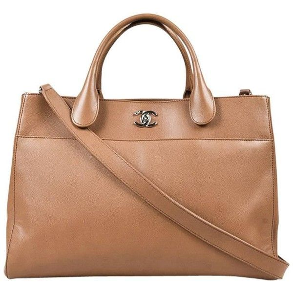 "Preowned Chanel Tan Brown Caviar Leather Top Handle ""executive Cerf""... ($4,015) ❤ liked on Polyvore featuring bags, handbags, tote bags, brown, totes, brown tote, leather purses, brown leather purse, leather handbag tote and brown tote bags"