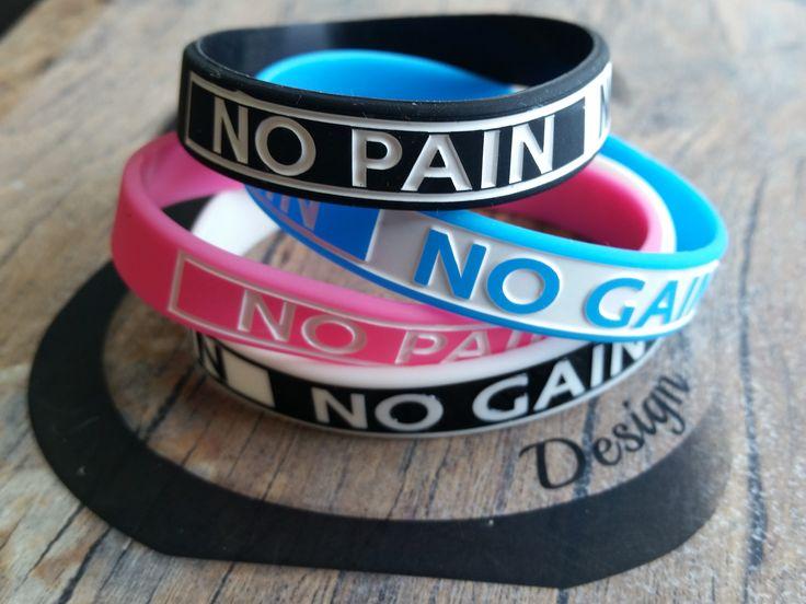 Pulsera de Silicona No Pain no gain Silicon Bracelet No Pain No Gain Gym,Wristband  Unisex Bracelet Silicone Fitness Wod Motivación Deporte de WodAndFit en Etsy