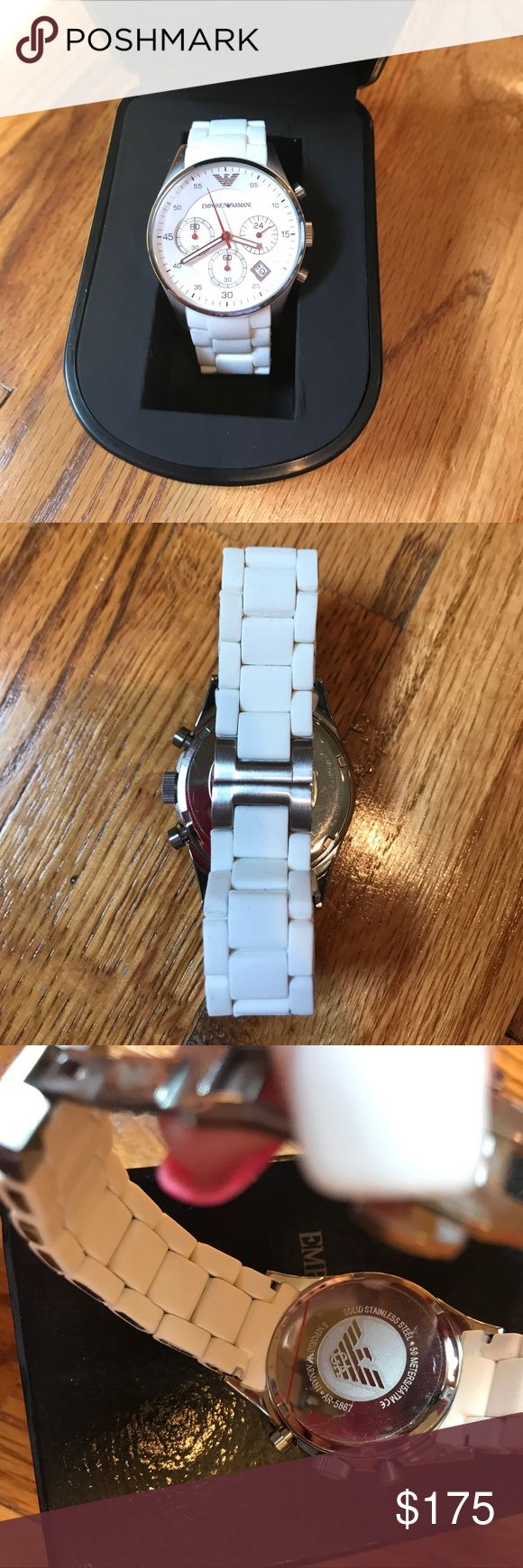 Emporio Armani ceramic watch Beautiful perfect condition wore once no scratches and have box and link I had removed Emporio Armani Accessories Watches