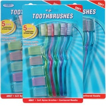 Bulk Assured Toothbrushes with Caps, 5-ct. Packs at DollarTree.com