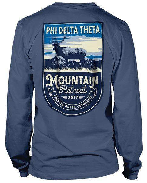 Phi Delta Theta Shirts | Phi Delta T-shirts | Fraternity Rush Shirts | Brotherhood Retreat Shirts | Mountain Retreat Shirts | Rush Shirts | Mountain Retreat Shirts | Fraternity Shirts | Custom Greek T-shirts |