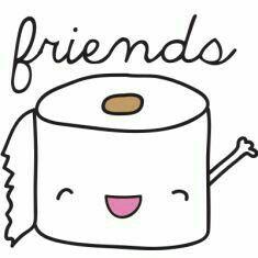 Best Friends Cocô e papel higiênico