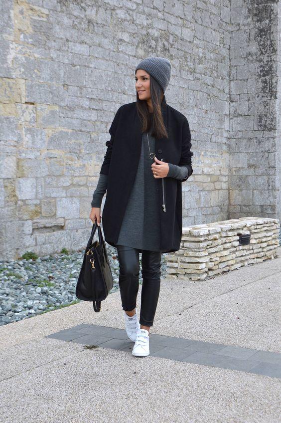 Модное платье-свитер: новинки 2017 года
