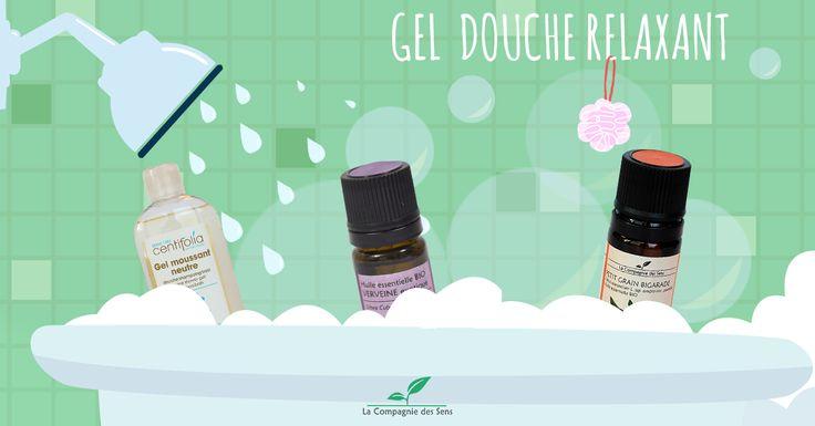 Gel douche bio et naturel à fabriquer soi-même au parfum relaxant de la Lavande et du Petit Grain Bigarade