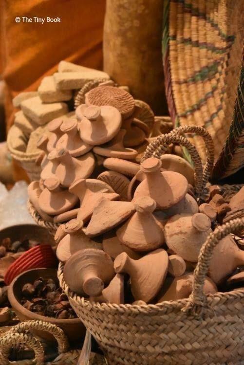 Huge choice of souvenirs. Marrakech street markets