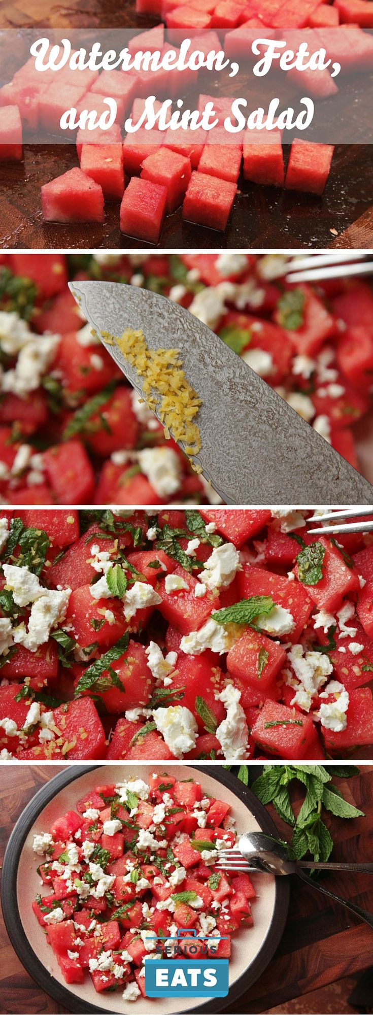 Extra-zesty watermelon, feta, and mint salad.