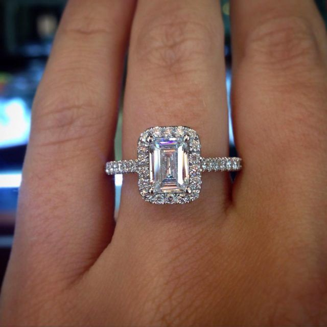 Our favorite emerald cut engagement rings!