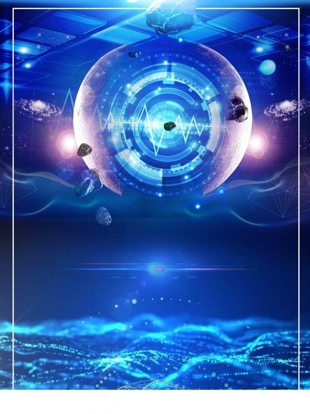 تصميم خلفية حديثة عالية التقنية باللون الأزرق Background Design Tech Background Blue Sky Background