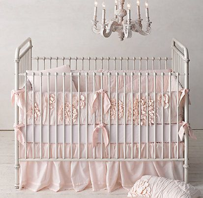 Washed Appliquéd Fleur Nursery Bedding Collection | Restoration Hardware Baby & Child   Baby girl's bedding! Can't wait for it to arrive!