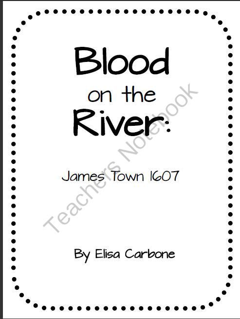 Blood on the River: James Town 1607 historical fiction novel lit pack with questions.