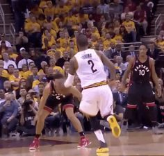 New party member! Tags: nba crossover cleveland cavaliers cavs cavaliers nba playoffs kyrie irving dribble handles kyrie irving behind the back