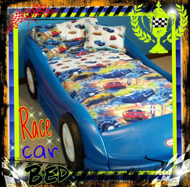 Little tikes race car bed ) Mustang theme lil boys
