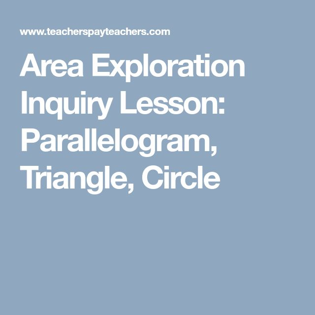 Area Exploration Inquiry Lesson: Parallelogram, Triangle, Circle