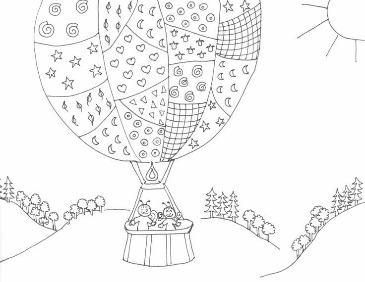 Bogyó és Babóca a léggömbben, coloring page, színező