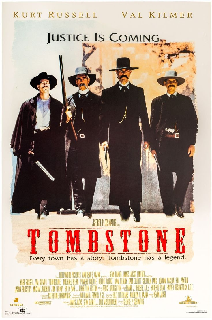Details about tombstone movie poster usa version size