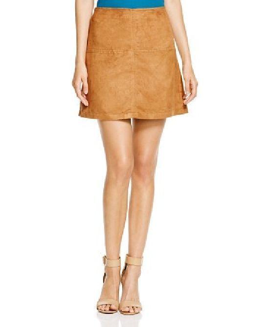 Sanctuary Brown Faux Suede Mini Skirt Sz L NWT #Sanctuary #Mini