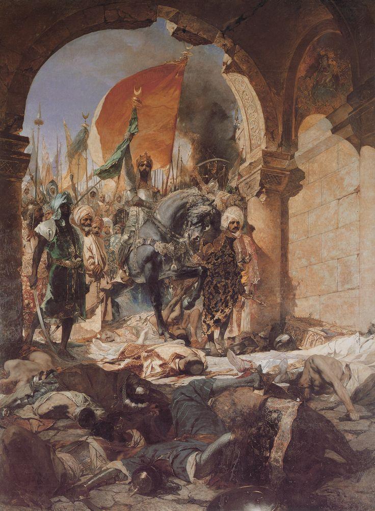 """Entrée de Mehmed II dans Constantinople"" (1876) by Jean Joseph Benjamin Constant (1845-1902)"