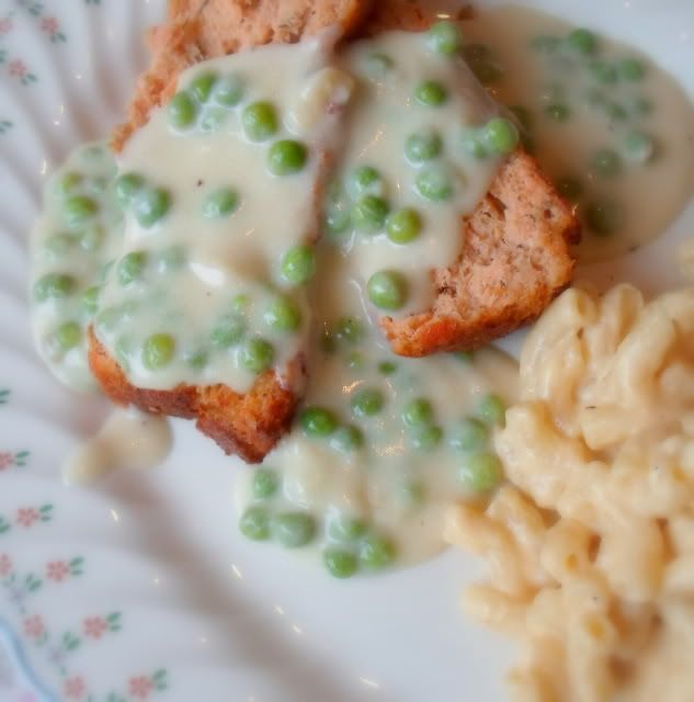 The English Kitchen: Salmon Loaf with Creamed Peas